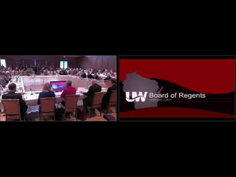 Chancellor Rebecca Blank's Presentation to the Board of Regents