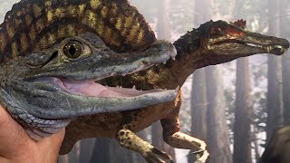 Spinosaurus and Caiman Share Super Senses! | Deadly Dinosaurs | Earth Unplugged