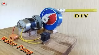 How to make Water Pump | DIY Water Pump from Pepsi Cans