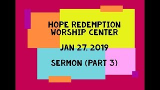 We are More than Conquerors | HRWC 1-27-2019 (Part 3)