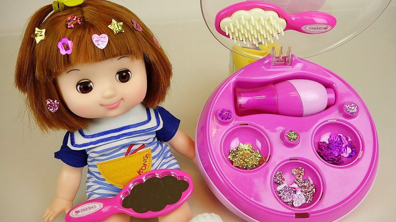 baby doll hair and decoration