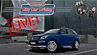 [LIVE 🔴] City Car Driving 1.5.5 - Test MODS   Audi, BMW, Mercedes & Others   1080p & 60 fps & G27