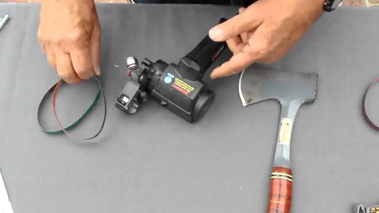 Hatchet or Axe Sharpening using the Work Sharp Knife ...
