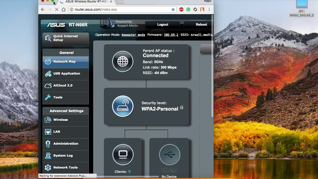 How to update Asus router running on Merlin