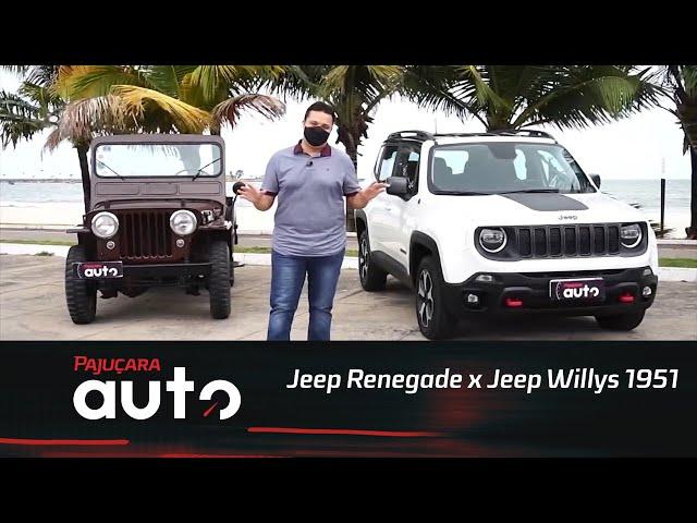 Encontro de gerações: Jeep Renegade Trailhawk 2020 x Jeep Willys 1951