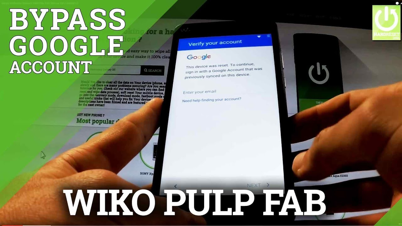Google Verification Bypass in WIKO Pulp FAB - Remove FRP / Android 5 0