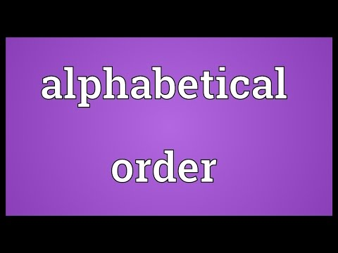Alphabetical order Meaning