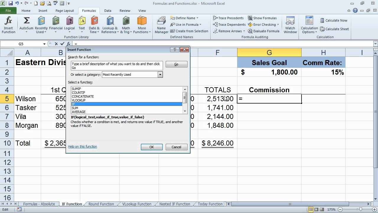 Excel Functions: Calculate Specific Results Under Two