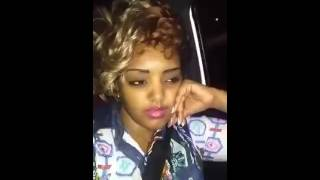 Ethiopian girl saying funny thing while being drunk