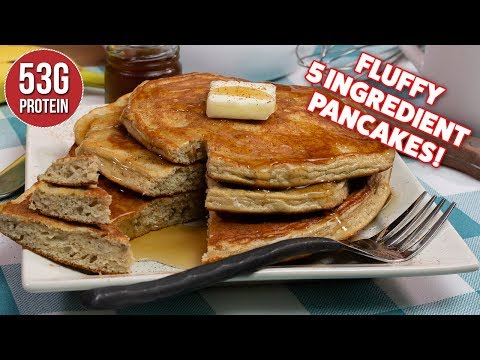 Easy 5 Ingredient Fluffy PROTEIN Pancakes Recipe