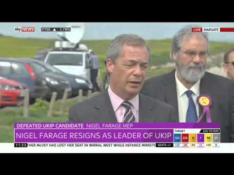 Nigel Farage Resigns As Leader Of UKIP