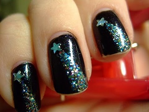 Shooting Star Nail Design - Shooting Star Nail Design - YouTube
