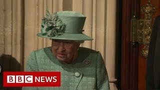 Queen arrives at Westminster - BBC News