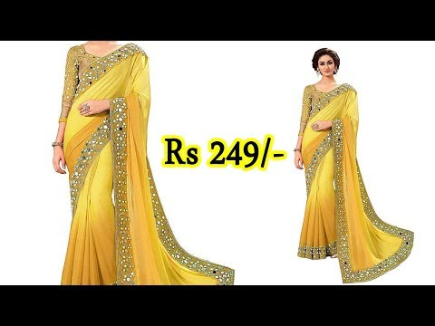Buy Designer Party Wear Sarees Rs 249/- Saree Online Shopping / Cheapest Saree Rates