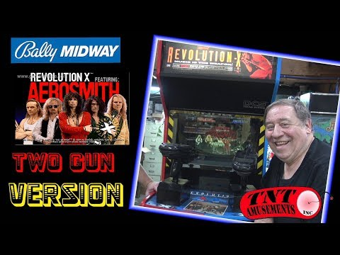 #1411 Bally Midway REVOLUTION X 2 Gun Arcade Video Game- TNT Amusements