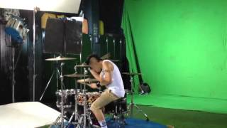 Ikmal tobing making video clip of neng neng nong neng drum
