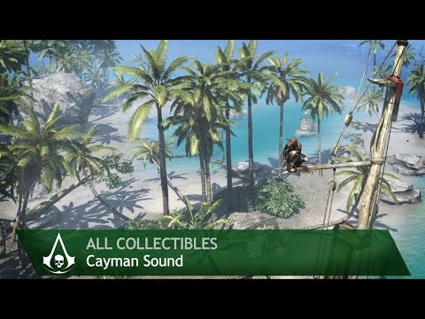 Assassin's Creed 4: Black Flag - Cayman Sound [Minor Locations] (All collectibles)