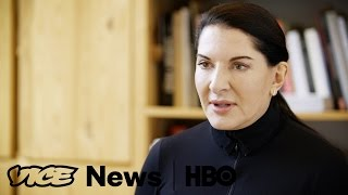 Marina Abramovic's Silent Birthday Celebration  VICE News Tonight on HBO
