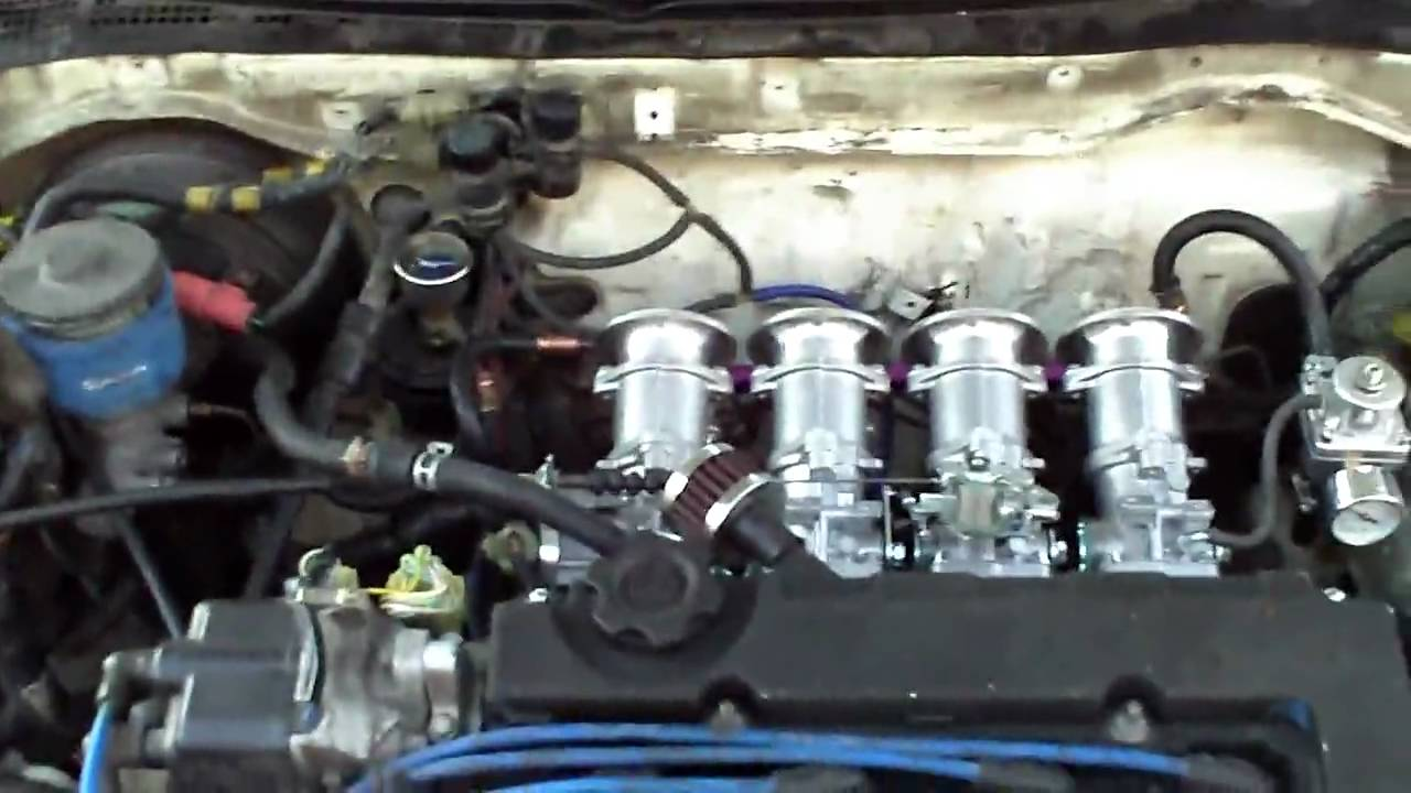 Honda CRX B18 with OBX ITBs (Individual Throttle Bodies