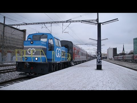 Moscow trains at Tallinn main station