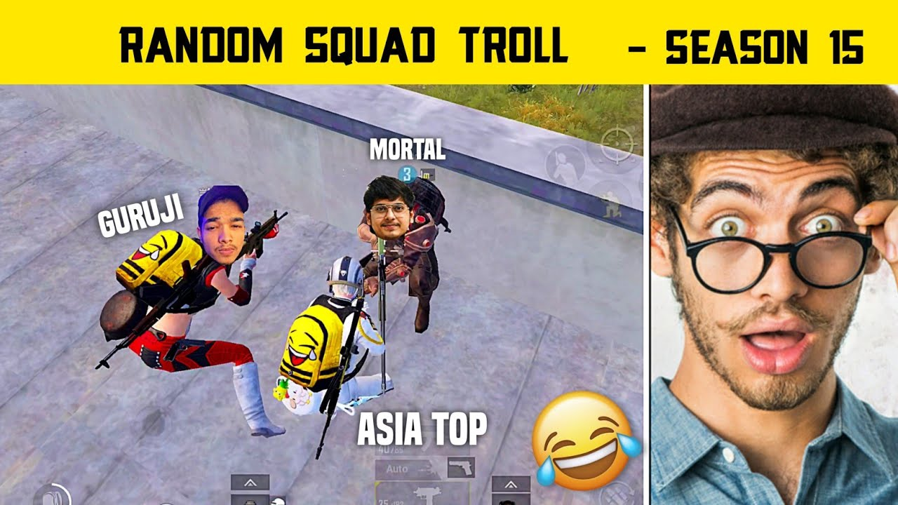 🇮🇳When I Join Random Squad In Pubg Mobile - Random Squad Pushing Troll - Legend X