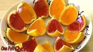 Orange Wedge Jello Shots - Recipe