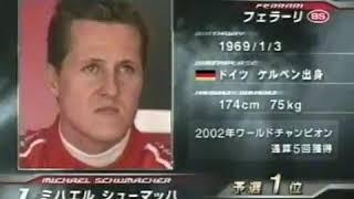F1 2002年 最終戦 日本GP スターティンググリッド