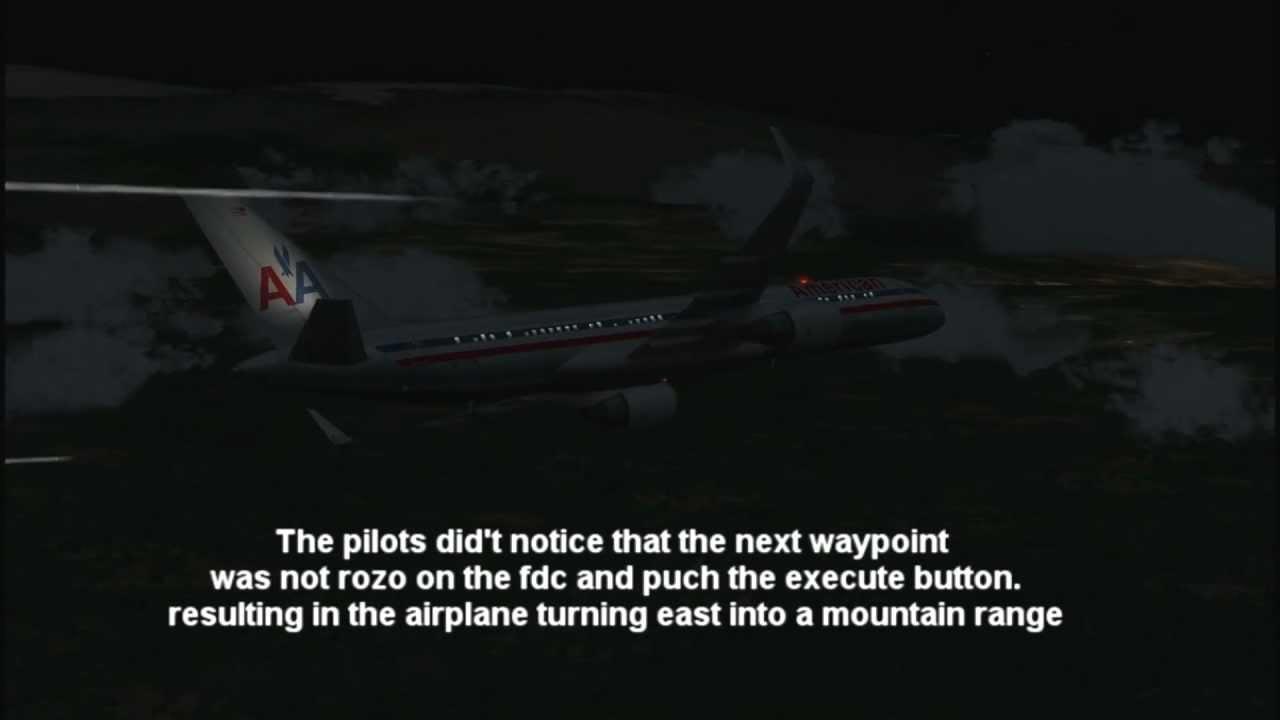 American Airlines Flight 965 crash-better quality(FSX ...
