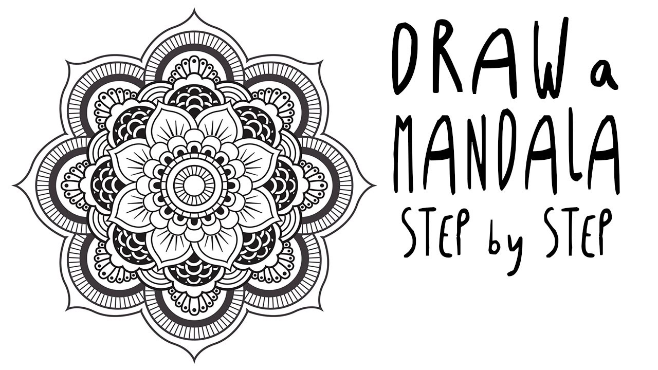How To Draw A MANDALA Step By Step For BEGINNERS (EASY