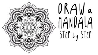 How to draw a MANDALA step by step for BEGINNERS (EASY)