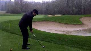 Golf as the rain turns to snow