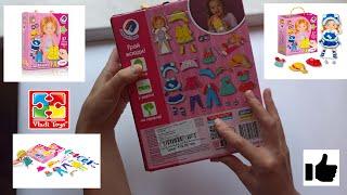Обзор детского игрового набора - Магнитная Одевашка для девочек  (Vladi Toys) Развлекательная игра