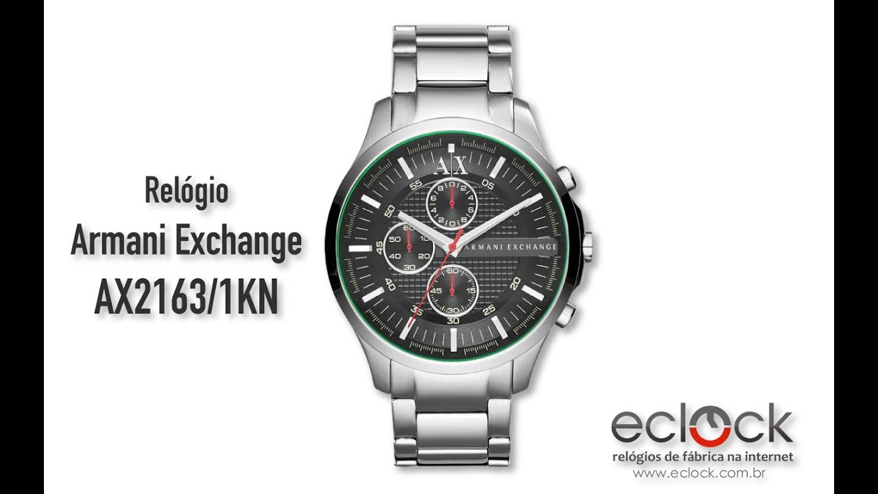 5af1cdc65d060 Relógio Armani Exchange Masculino AX2163 1KN - Eclock - YouTube