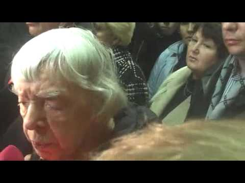 Lyudmila Alexeyeva gets punched in the head