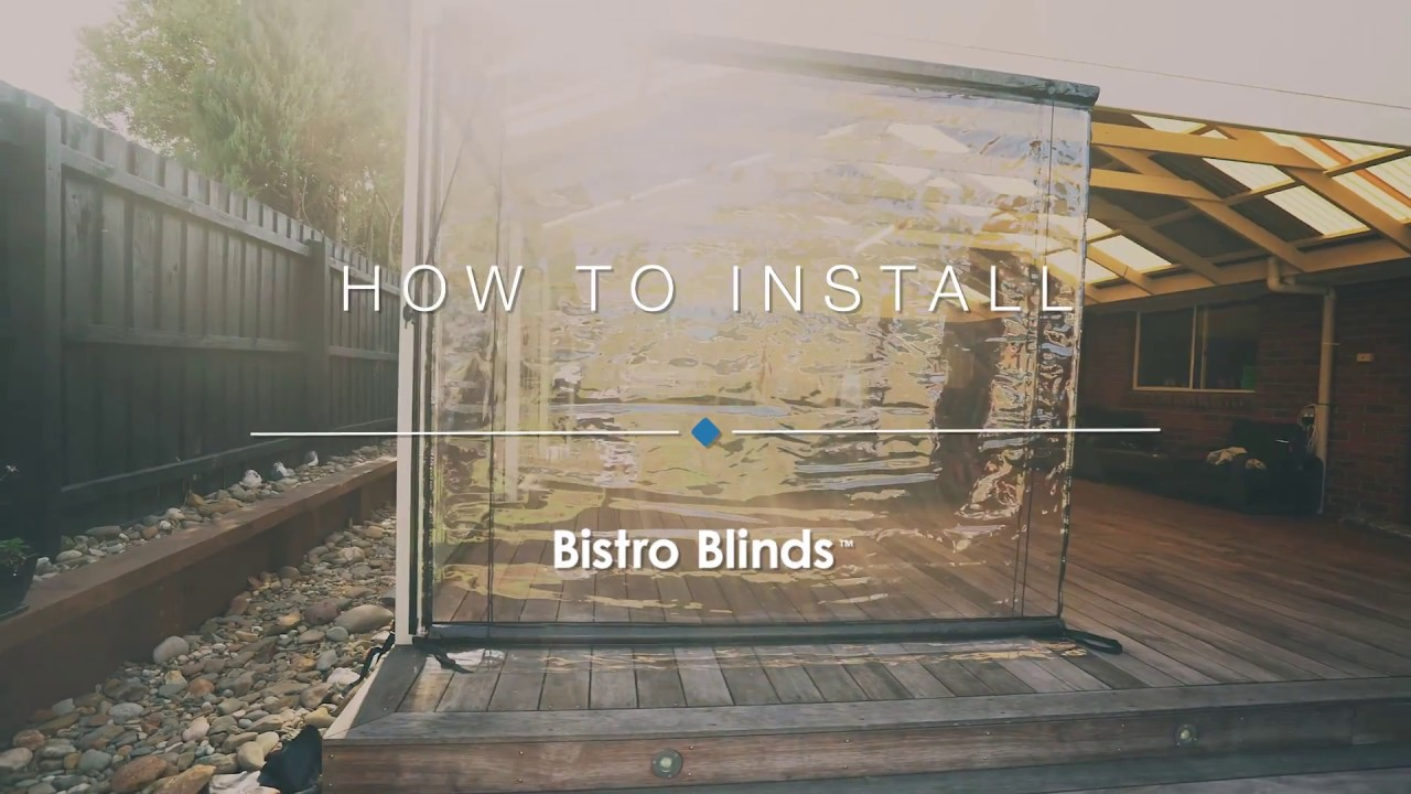 How To Install Your Bistro Blinds
