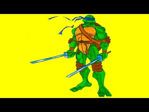 TMNT Ninja Turtles New Coloring Pages for Kids Colors Coloring colored markers felt pens pencils