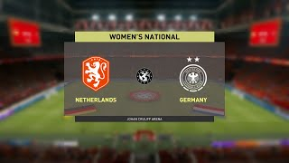 Netherlands Women vs Germany Women International Friendly 24 02 2021 Fifa 21