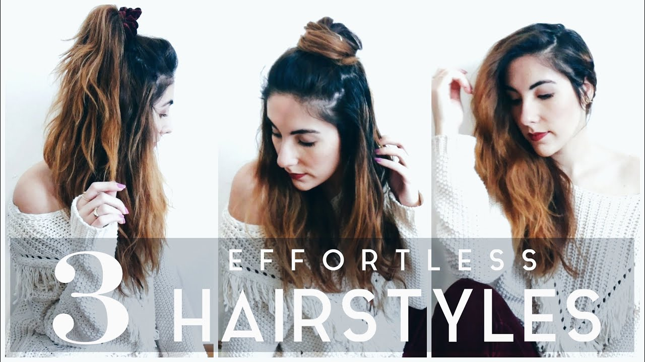 my 3 effortless hairstyles for bad hair day | tutorial 2016 | eva redson