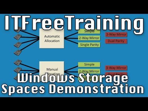 Windows Storage Spaces Demonstration
