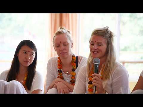 One Month Intensive Yoga Training Welcome Ceremony - AYM Yoga School