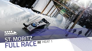 St. Moritz | BMW IBSF World Cup 2019/2020 - 4-Man Bobsleigh Heat 1 | IBSF Official