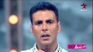 akshay kumar shed tears during his show tu bhoola jise with translation