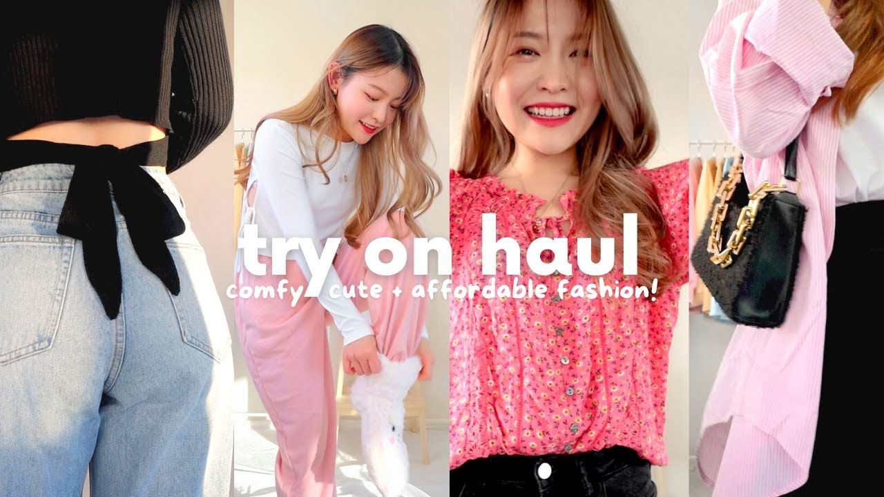 what i'm wearing this month ☁️ cute, comfy + affordable try on haul