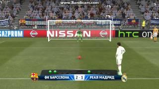 Серия пенальти Барселона VS Реал Мадрид в PES2015