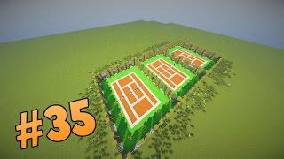 Kort tenisowy w Minecraft   Pomysł na budowlę [#35]