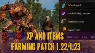 The witcher 3 : Xp and items farming (Golem's heart) patch 1.22/1.23 pc,ps4,xbox one