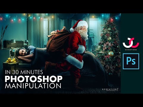 CHRISTMAS SPECIAL PHOTOSHOP MANIPULATION TUTORIAL in 30 Minutes | UCREATIONZ 2017 | UNNIKRISHNAN KJ
