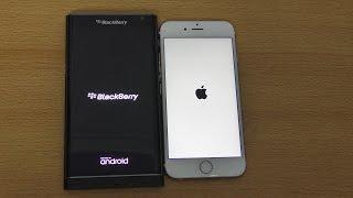 blackberry Priv vs iPhone 6S - Speed & Camera Test (4K)