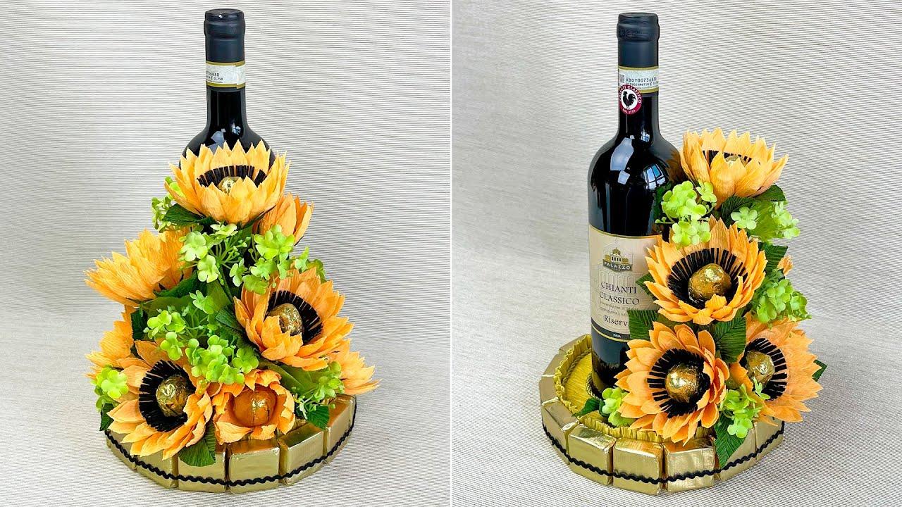 Взяла бутылку вина и сделала Эффектный подарок своими руками / Оформление бутылки DIY Do it yourself