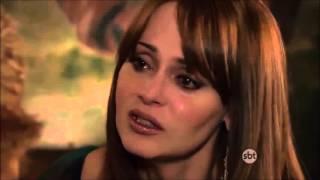 A Dona - Ivana tenta inforcar Valentina e levanta uma tesoura contra Isabel